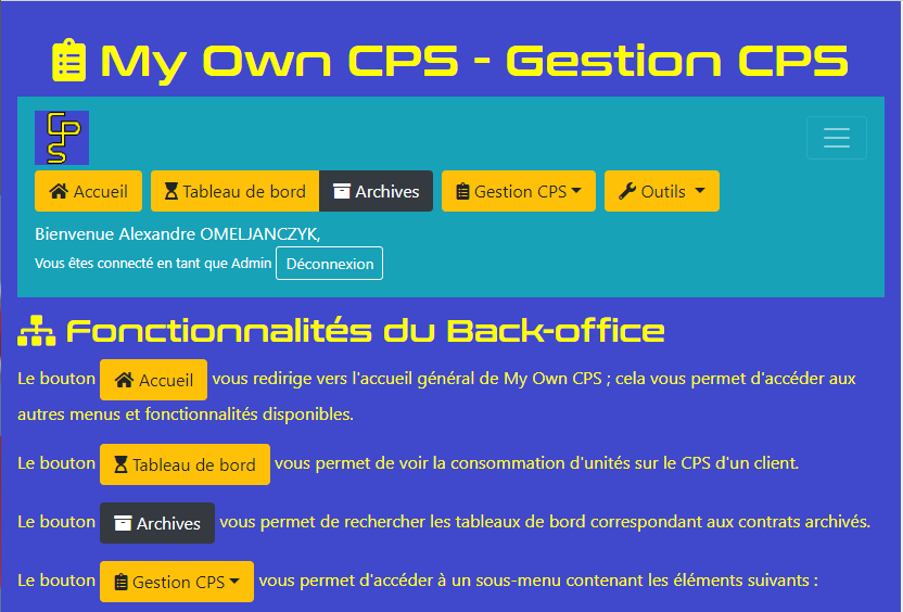 My Own CPS - Responsive Web Design