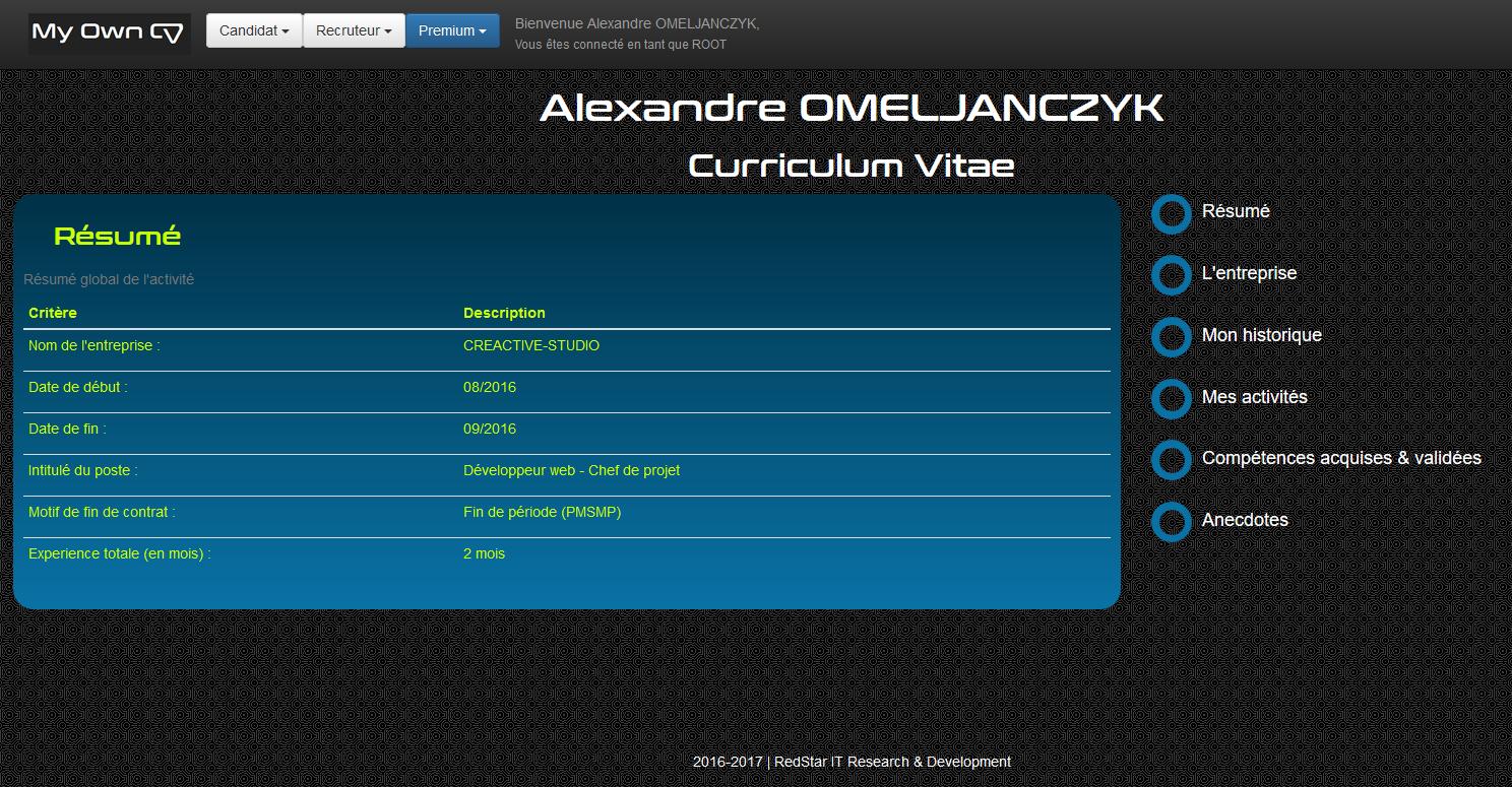 My Own CV #3