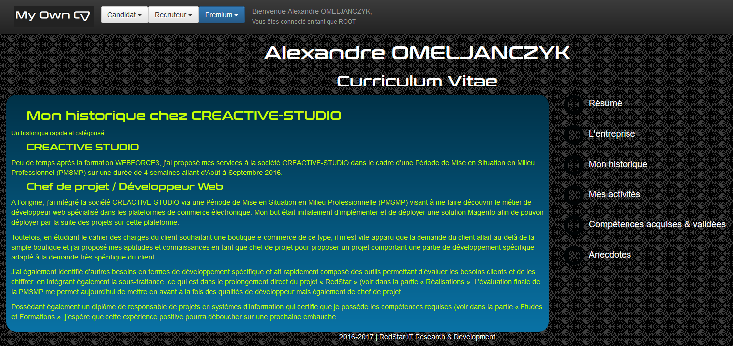 My Own CV #5