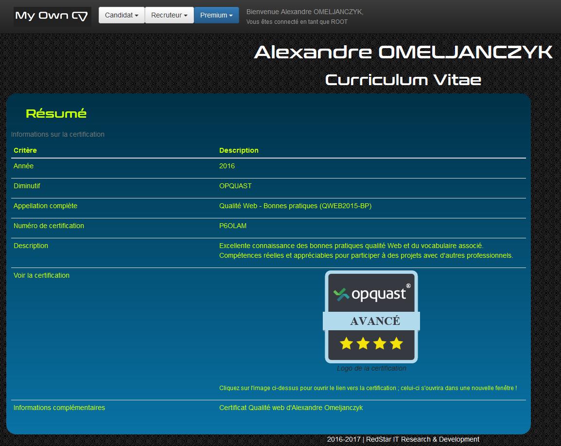 My Own CV #9