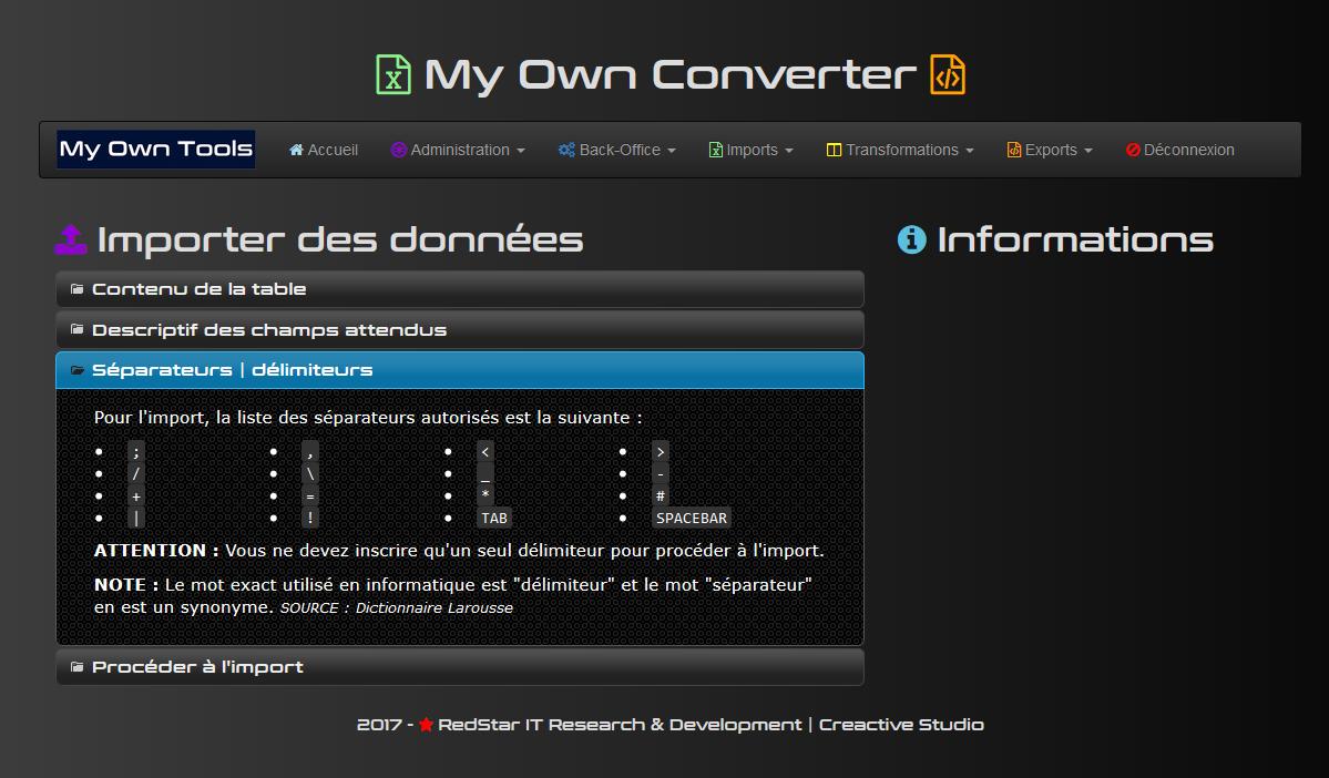 My Own Converter #1