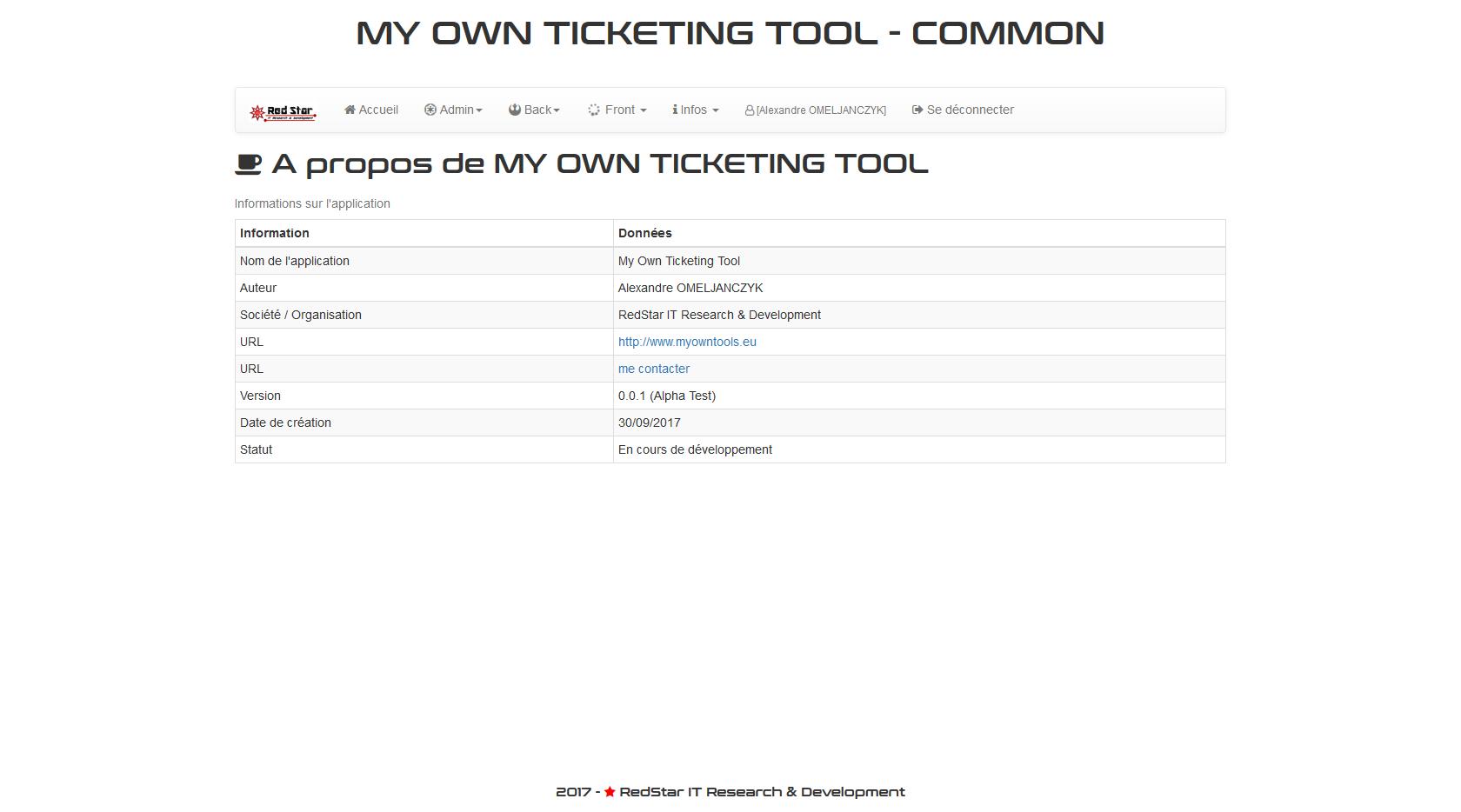 My Own Ticketing Tool #1