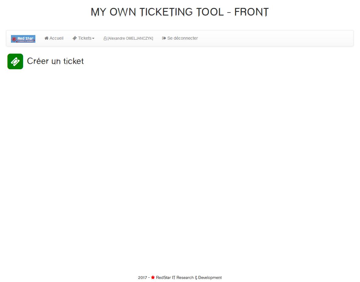 My Own Ticketing Tool #5